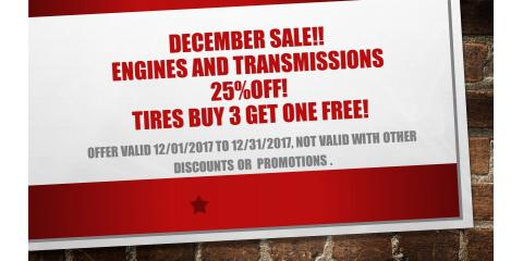 ENGINES AND TRANSMISSIONS 25%OFF ALL DECEMBER! , Hebron, Kentucky