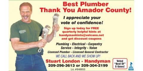 Stuart London Handyman, General Contractors & Builders, Services, Pine Grove, California