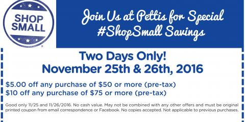 Black Friday & Small Business Saturday Deals!, East Rochester, New York