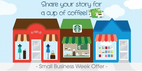 Get a Free Cup of Coffee!, Cincinnati, Ohio