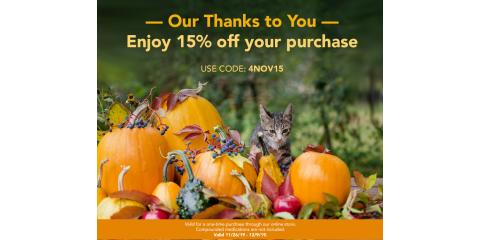 Our Thanks to you! 15% off your purchase online store only, Wisconsin Dells, Wisconsin
