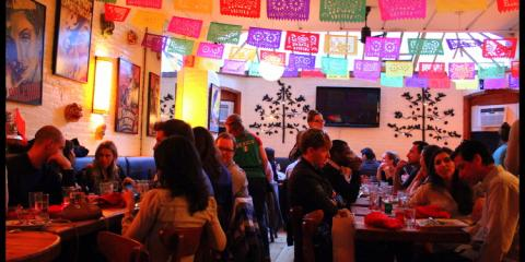 Authentic Guacamole & Drink: Served up For Mexican Restaurant Papatzul, Manhattan, New York