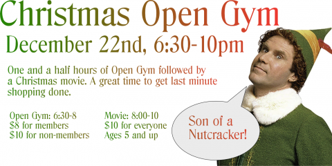 Christmas Open Gym 12/22, Greece, New York
