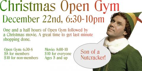 Christmas Open Gym 12/22, Greece, New York