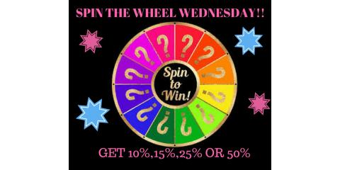WEDNESDAY IS THE DAY TO VISIT BESSLER'S UP TO 50% OFF WHEN YOU SPIN THE WHEEL!, Hebron, Kentucky