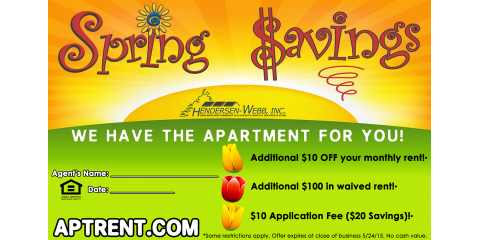 Special Spring Savings from the Hartland Apartments!, Essex, Maryland