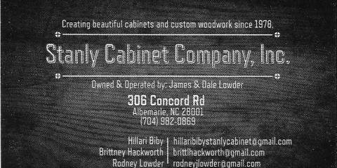 Stanly Cabinet Co Inc, Cabinets, Shopping, Albemarle, North Carolina