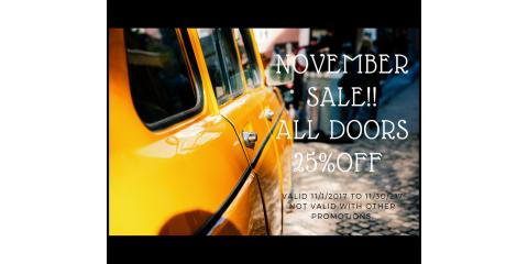 NOVEMBER  SALE, DOORS 25% OFF , Hebron, Kentucky