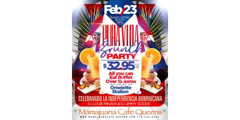 PURA VIDA BRUNCH PARTY- FEB 23- MAMAJUANA CAFE QUEENS, New York, New York