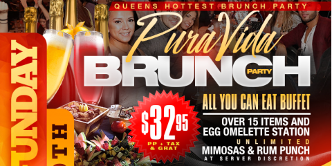 SUNDAY BRUNCH PURA VIDA BRUNCH PARTY MAMAJUANA CAFE , New York, New York