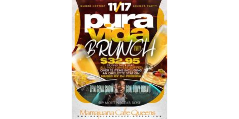 PURA VIDA BRUNCH PARTY- NOV 17- MAMAJUANA CAFE QUEENS , New York, New York