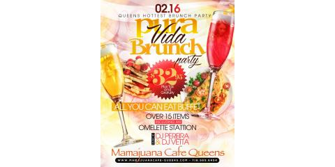 PURA VIDA BRUNCH PARTY- FEB 16- MAMAJUANA CAFE QUEENS , New York, New York
