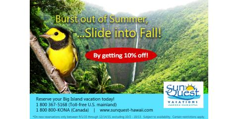 Don't Wait: Save 10% Off Your Big Island Vacation, Holualoa, Hawaii