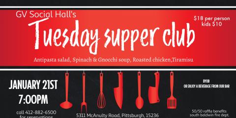 GV Social Hall Tuesday Supper Club, Whitehall, Pennsylvania