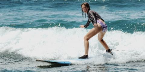 Which Muscles Can I Expect to Use During My First Surf Lesson?, Lahaina, Hawaii