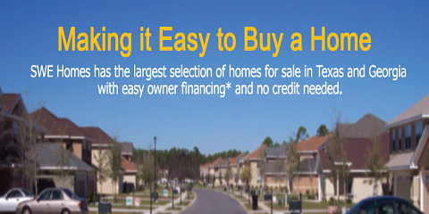 SWE Homes: Great Owner Financing Options For People Who Have No Credit, Houston County, Texas