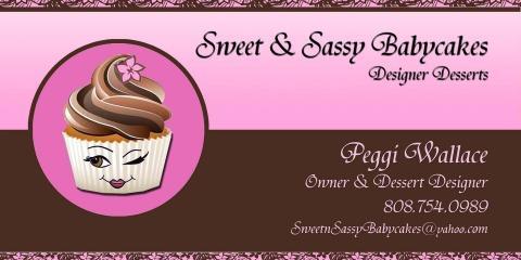 For Unique & Delicious Babycakes (Mini Cupcakes), Turn to Oahu's Sweet & Sassy Babycakes, Koolaupoko, Hawaii