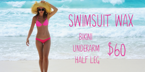 Save $15 with Woman's Swimsuit Wax Bundle, Topsail, North Carolina