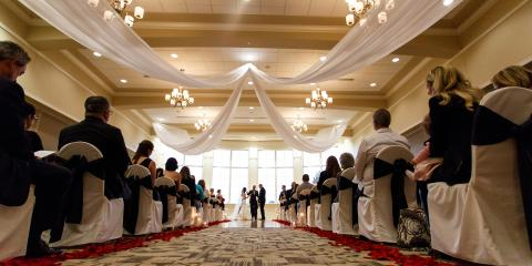 Ceiling Swag Completely Changes the Look of Your Wedding Reception, Reading, Ohio