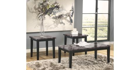 FAUX MARBLE COFFEE & 2 END TABLES MAYSVILLE BY ASHLEY-$207, Maryland Heights, Missouri