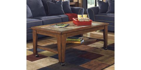 COFFEE & 2 CHAIR SIDE TABLES – TOSCANA BY ASHLEY-$350, St. Louis, Missouri