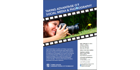 "Free One Day Institute: ""Taking Advantage of Social Media and Photography"", Manhattan, New York"