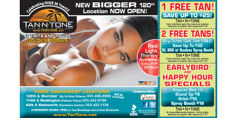 Tan N' Tone Summer Deals, Northglenn, Colorado