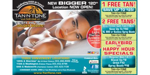 Tan N' Tone Summer Deals, Northeast Jefferson, Colorado