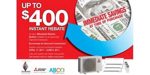 Instant Rebate on a New Heating & Air Conditioning System, Taunton, Massachusetts