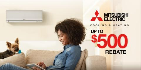 Save Up to $500 on Select Mitsubishi Electric® HVAC Systems, Taunton, Massachusetts