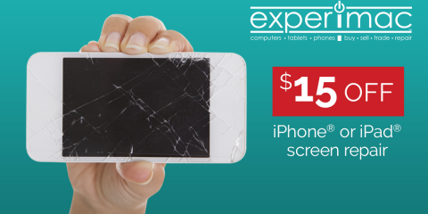 TGIF Special - $15 off any iPhone® or iPad® Repair, Greenville, North Carolina