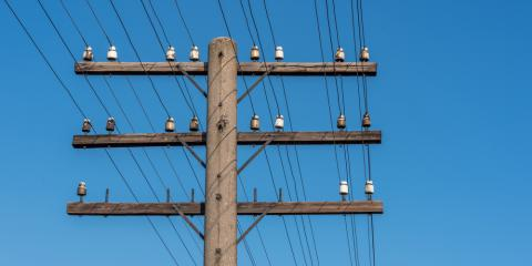 The Fascinating History of Wooden Utility Poles in America , Franklinville, New York