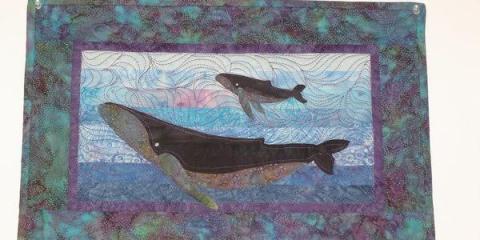 Celebrate Whale Season in Hawaii with the Humpback Whale Quilt Kit, Kihei, Hawaii