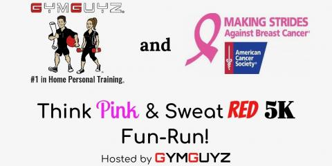 GYMGUYZ Think Pink & Sweat Red 5k Fun Run , Northbrook, Illinois