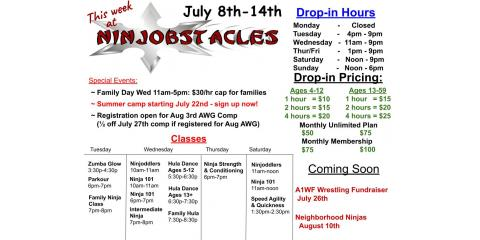 This Week at Ninjobstacles - July 8th-14th, Centerville, Ohio