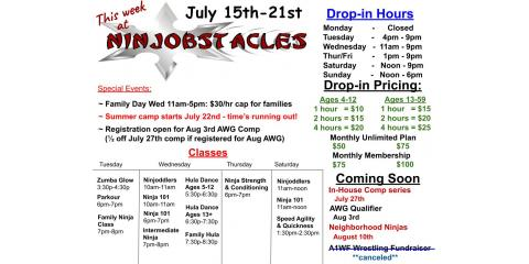 This Week at Ninjobstacles - July 15th-21st, Centerville, Ohio