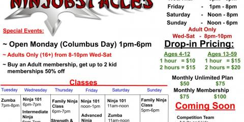 This Week at Ninjobstacles - Oct 14th - 21st, Centerville, Ohio