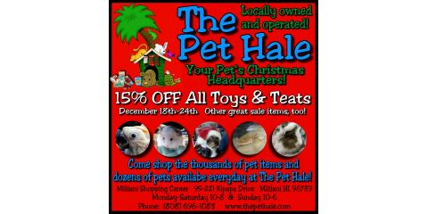 15% OFF Toys & Treats!, Ewa, Hawaii