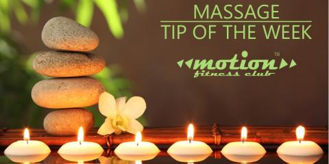 Motion Fitness Club-Massage Tip of the Week, Millburn, New Jersey