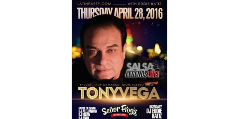 SALSA LEGEND TONY VEGA DIRECT FROM PUERTO RICO PERFORMS IN NEW YORK THURSDAY, APRIL 28!!!, Hempstead, New York