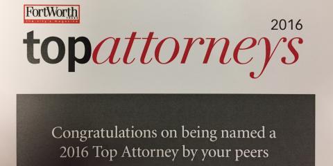 Fort Worth Magazine's Top Attorneys List, Colleyville, Texas