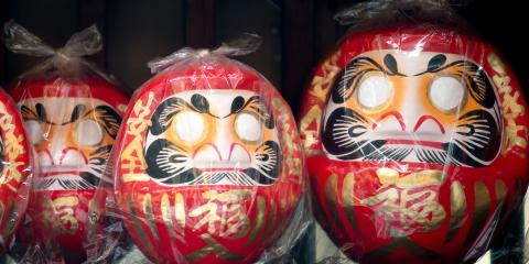 3 Japanese Good Luck Charms for the New Year, Honolulu, Hawaii