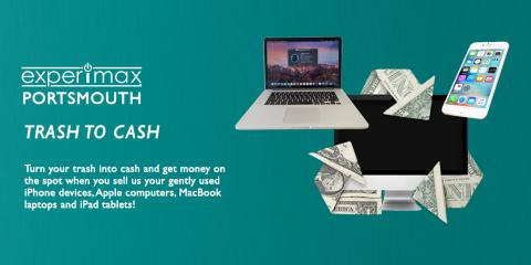 Want to turn your used Apple computer into cash? Experimax Portsmouth Wants to Buy Your Gently Used Apple Devices, Portsmouth, New Hampshire