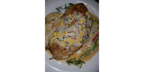 Chef Special: Blackened Redfish w/ Crab & Corn Cream Sauce Tonight!, Bon Secour, Alabama