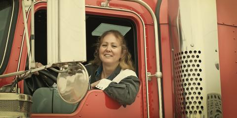 How to Succeed as a Female in Trucking School , Riga, New York