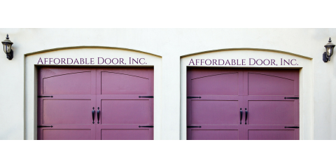 Affordable Door's Full Menu of Door Services, Chisago City, Minnesota