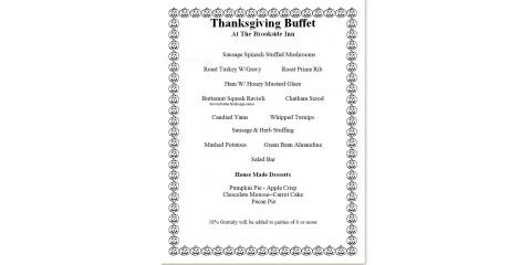 Make Your Reservations for Thanksgiving Now., Oxford, Connecticut