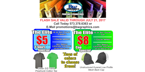 FLASH SALE - Tees for only $5.00 & Caps for only $8.00! , Versailles, Missouri
