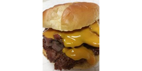 Today's Hump Day Camel Burger is:  THE ULTIMATE CAMEL FUSION BURGER!, La Crosse, Wisconsin