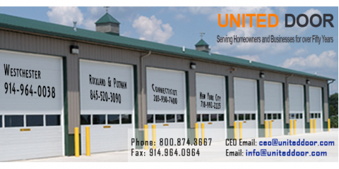 United Overhead Doors, Garage & Overhead Doors, Shopping, Yonkers, New York